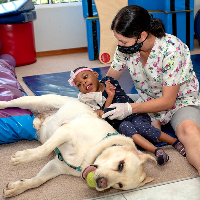 Animal therapy is a firm favourite