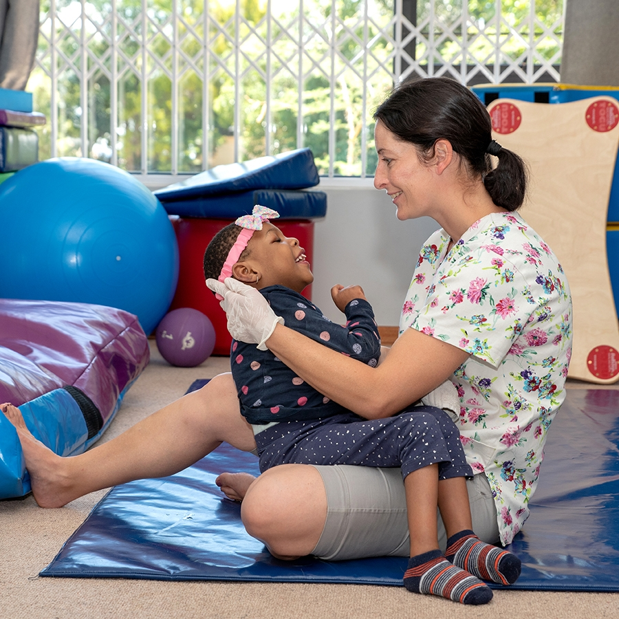 Physical therapists work hands-on with our residents