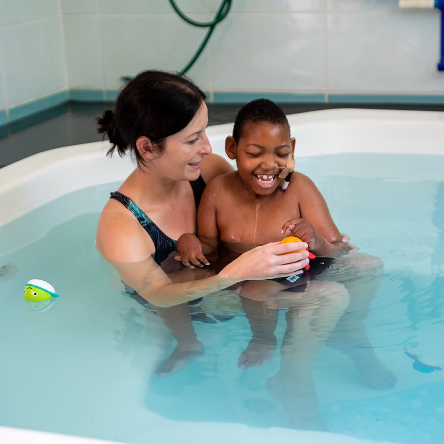 Water therapy provides an almost weightless environment for mobility therapy