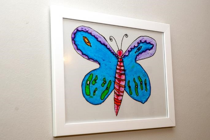 Children from a nearby school created lovely butterfly artworks to keep our walls looking bright and cheerful